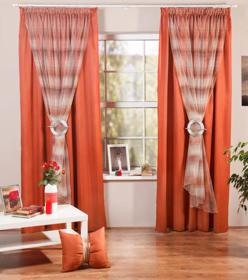 материалы для двухцветных штор