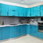 фасад кухни голубой