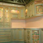 фасад кухни бирюза