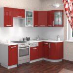 фасад кухни красный