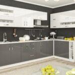 фасад кухни серый
