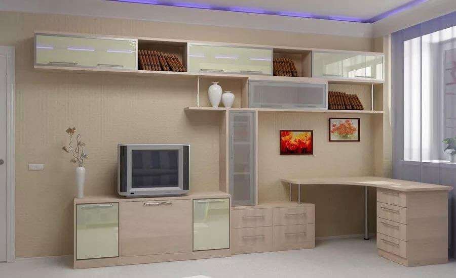 МДФ для стенки с компьютерным столом