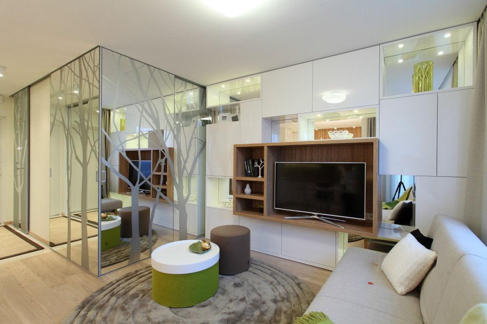 мебель для маленькой квартиры зеркальная