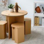 мебель из картона фото оформление