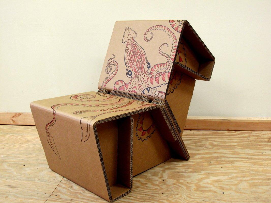 мебель из картона дизайн
