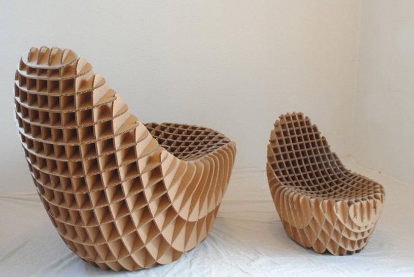 мебель из картона фото идеи