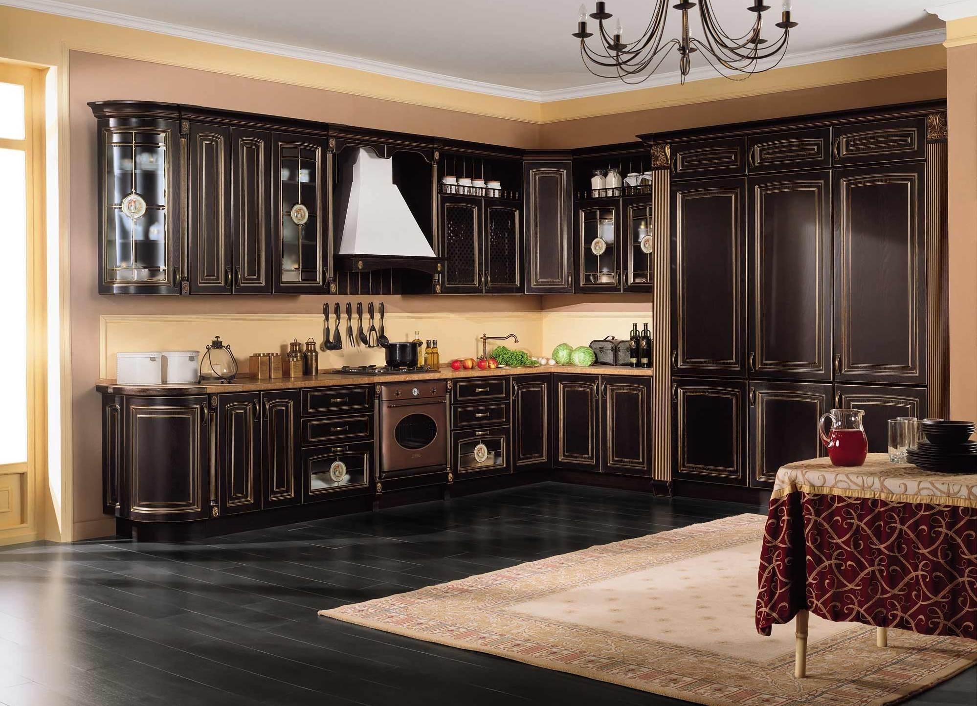 место для классических кухонных гарнитуров
