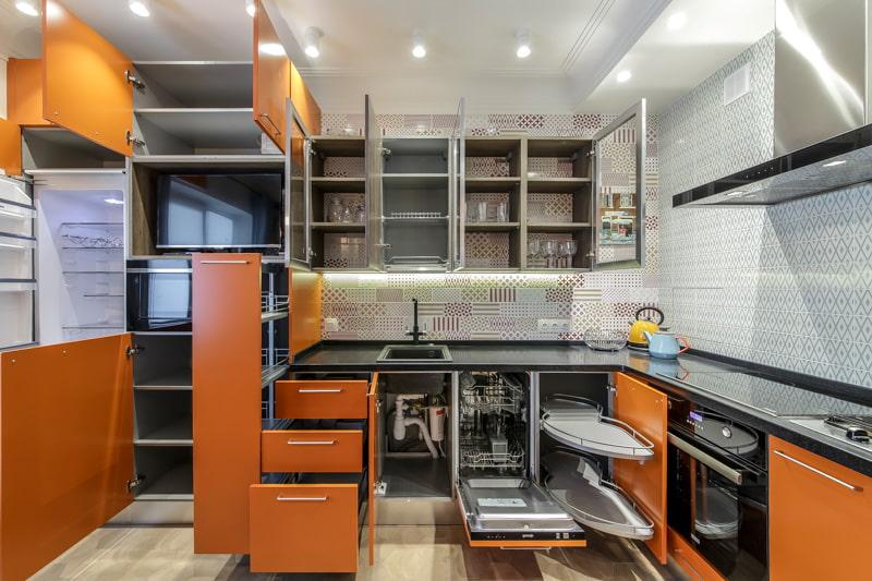 кухонные шкафы наполнение