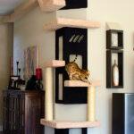 настенные полки для кошек интерьер идеи