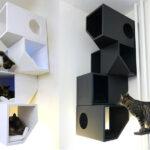 настенные полки для кошек варианты