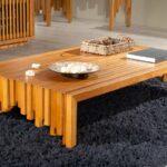 стол из дерева из планок