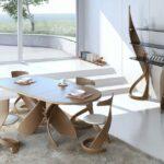 стол из дерева овальный