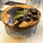стол из дерева круглый