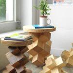 стол из дерева геометрический