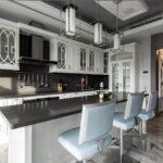 белый неоклассический кухонный гарнитур