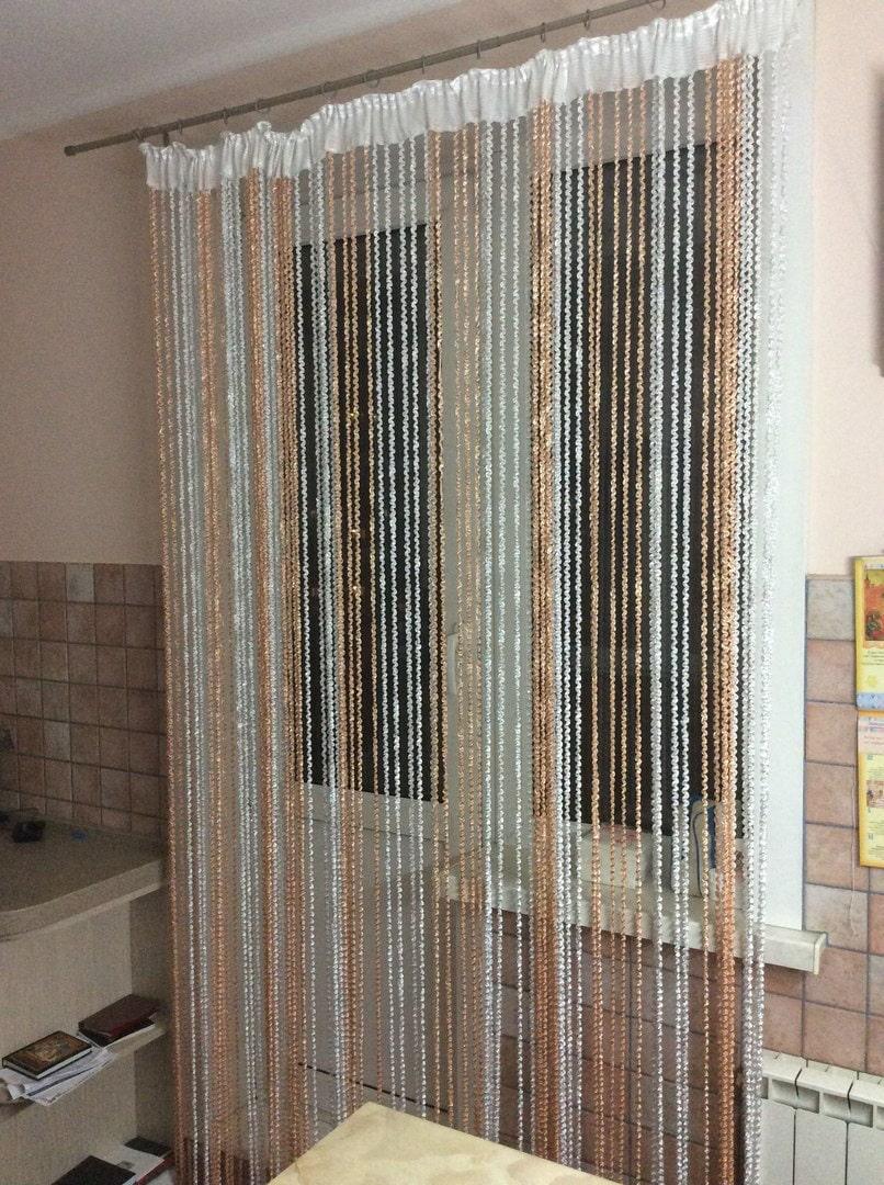шторы нитки на кухне фото того достопримечательностями
