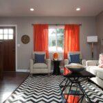 оранжевые шторы варианты