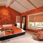 оранжевые шторы варианты фото