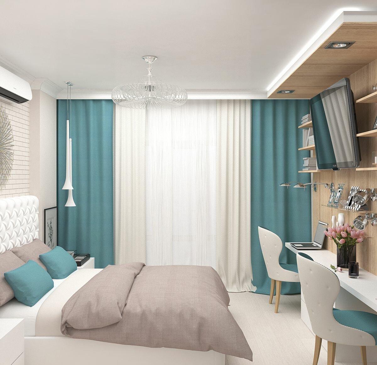 плотные шторы в спальню