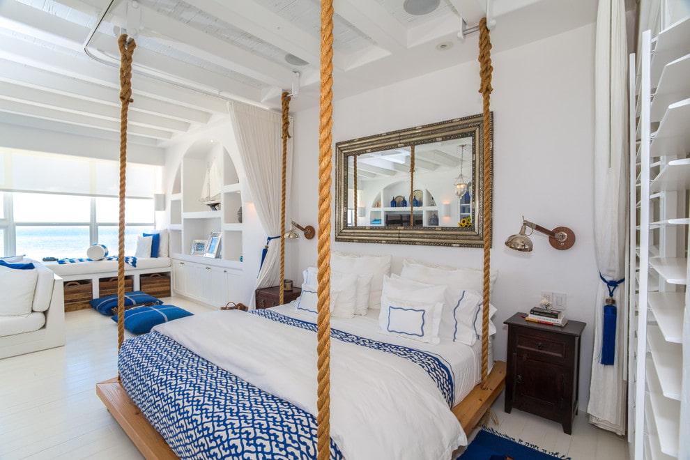 подвесная кровать декор фото