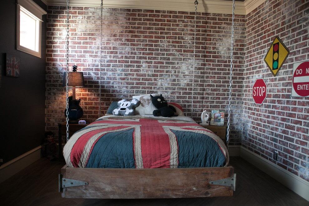 подвесная кровать декор идеи