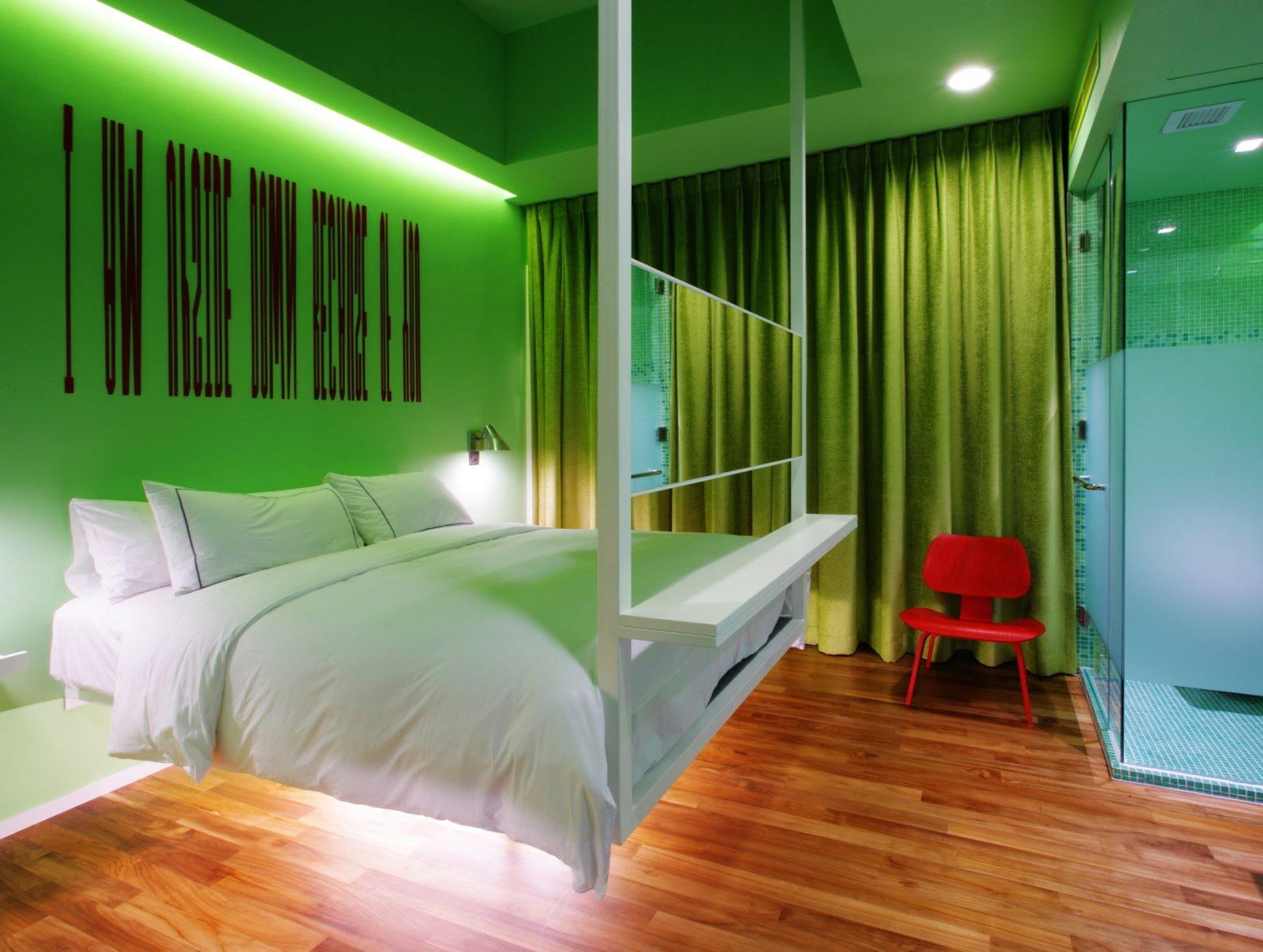 подвесная кровать декор