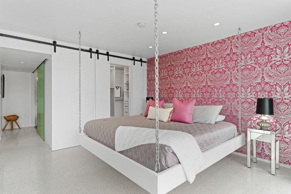 подвесная кровать дизайн фото