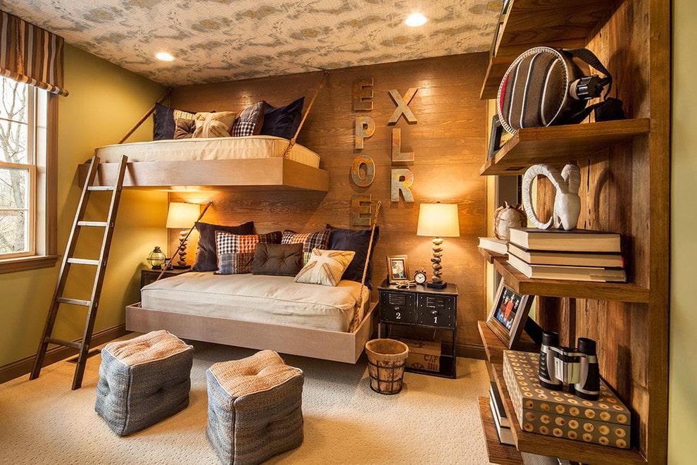 подвесная кровать дизайн
