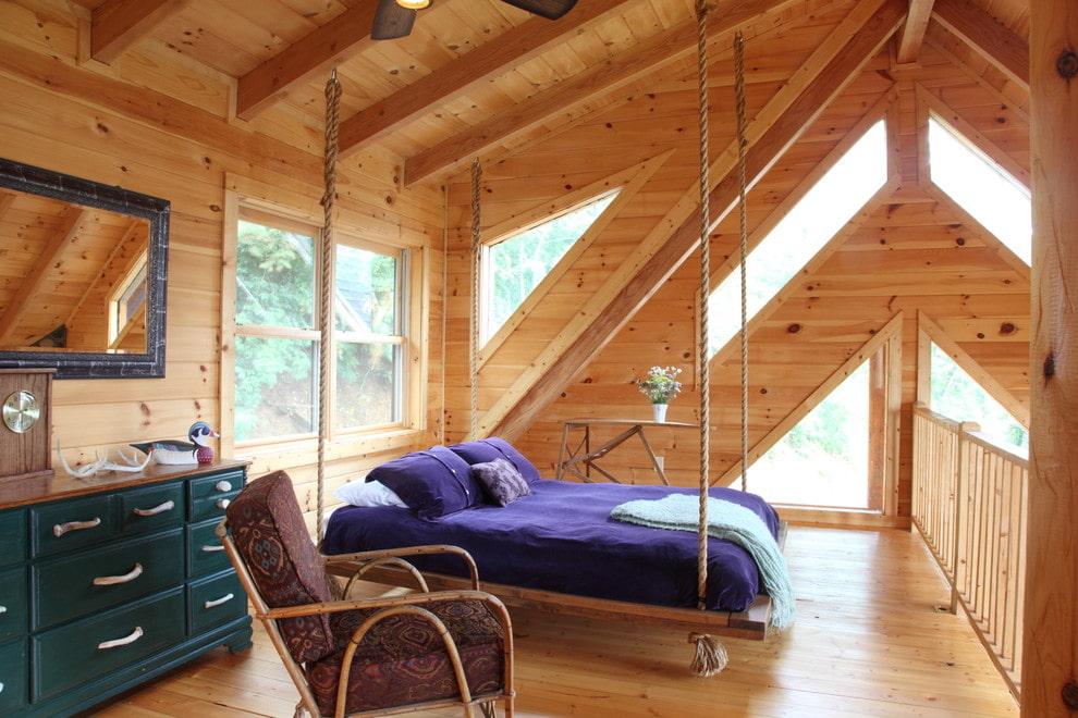 подвесная кровать фото декора