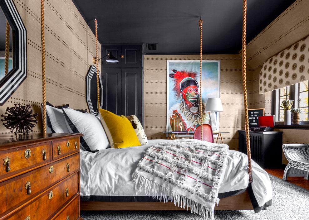 подвесная кровать фото дизайна