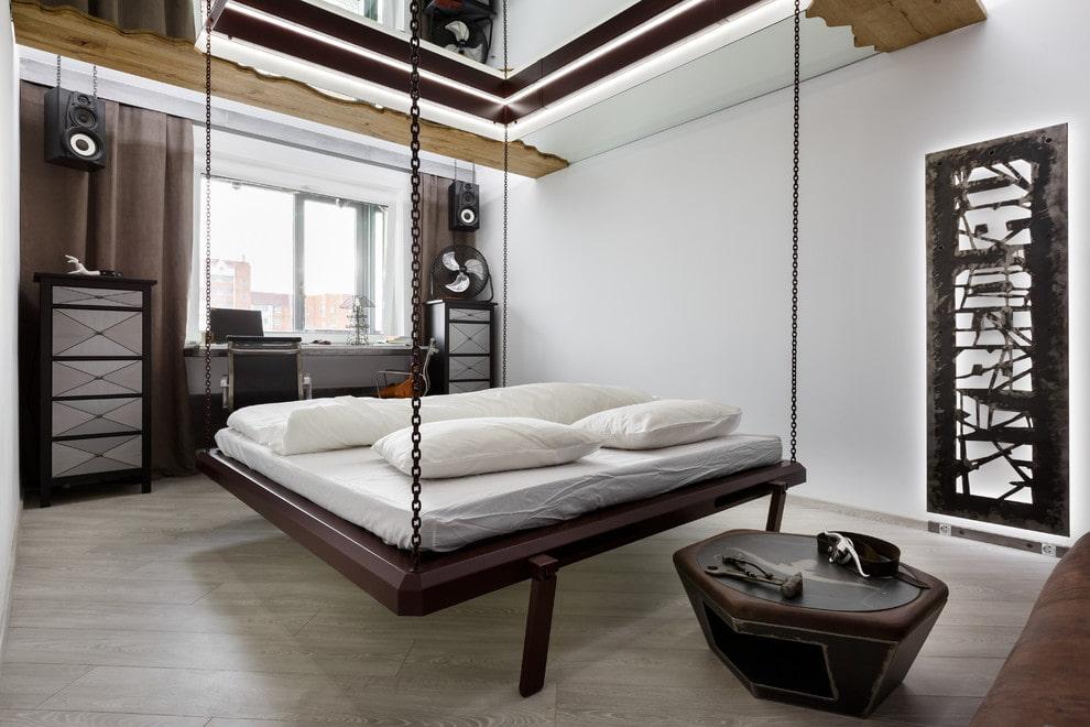 подвесная кровать фото идеи