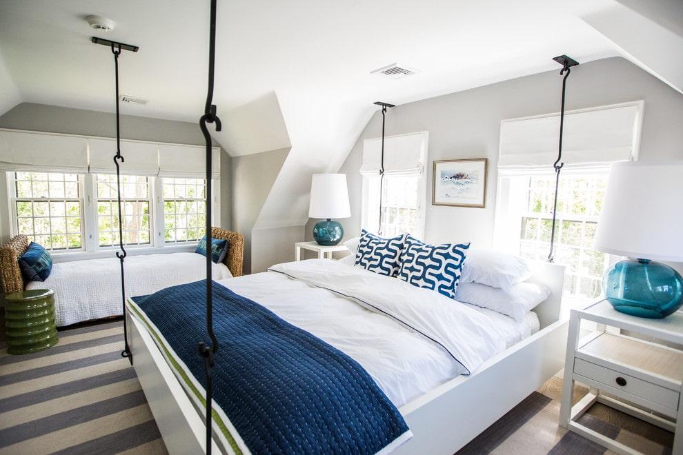 подвесная кровать оформление