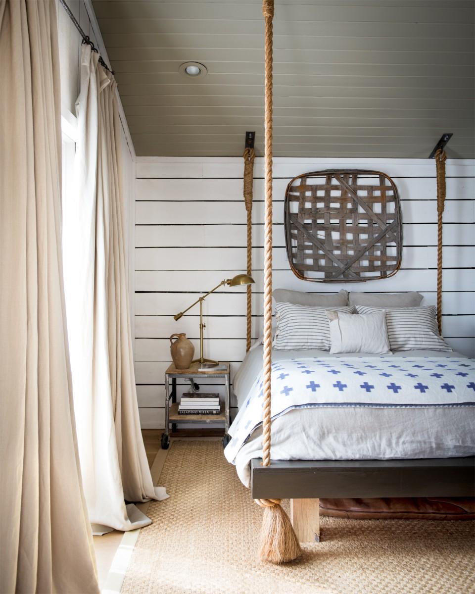 подвесная кровать в интерьере
