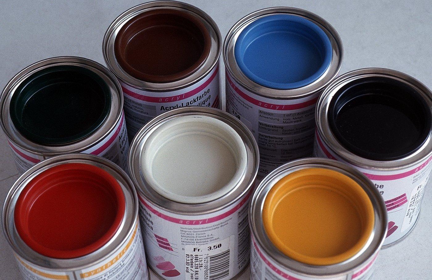 выбора красок