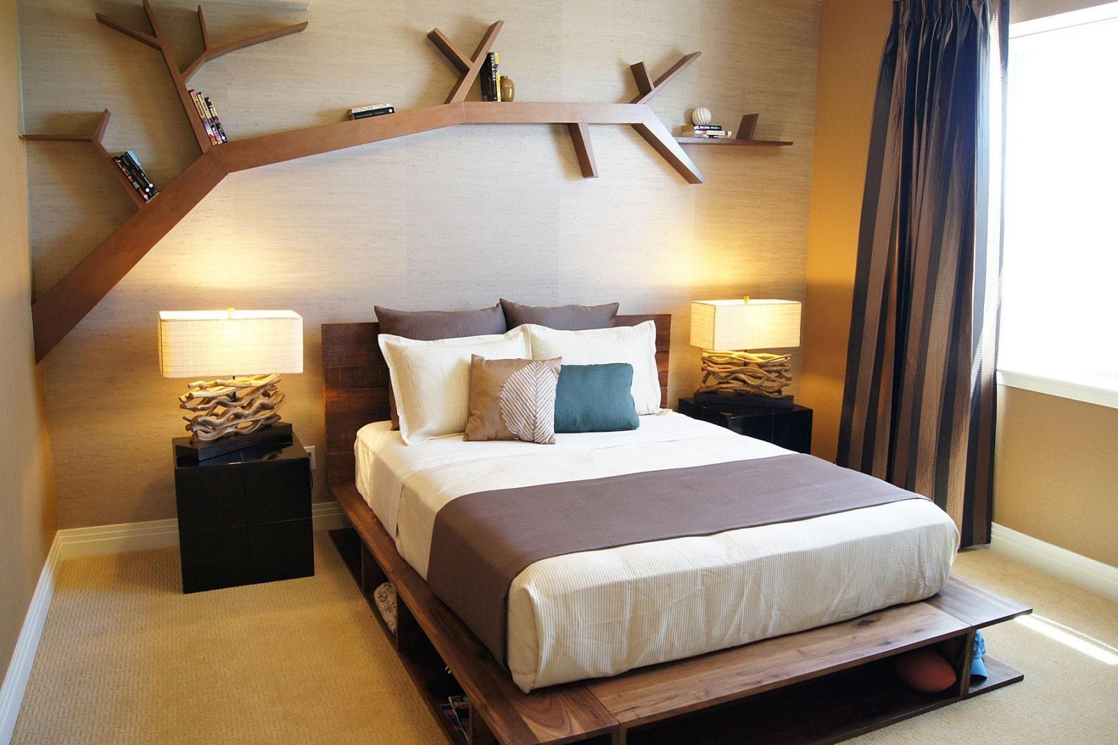 полки для спальни