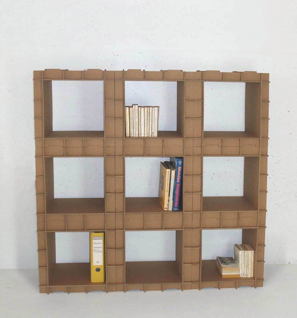 полки для книг из картона