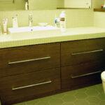 раковина с тумбой в ванной дизайн фото