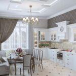 кухня большая белая