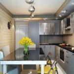 кухня с желтыми цветами