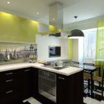 полуостровная планировка кухни