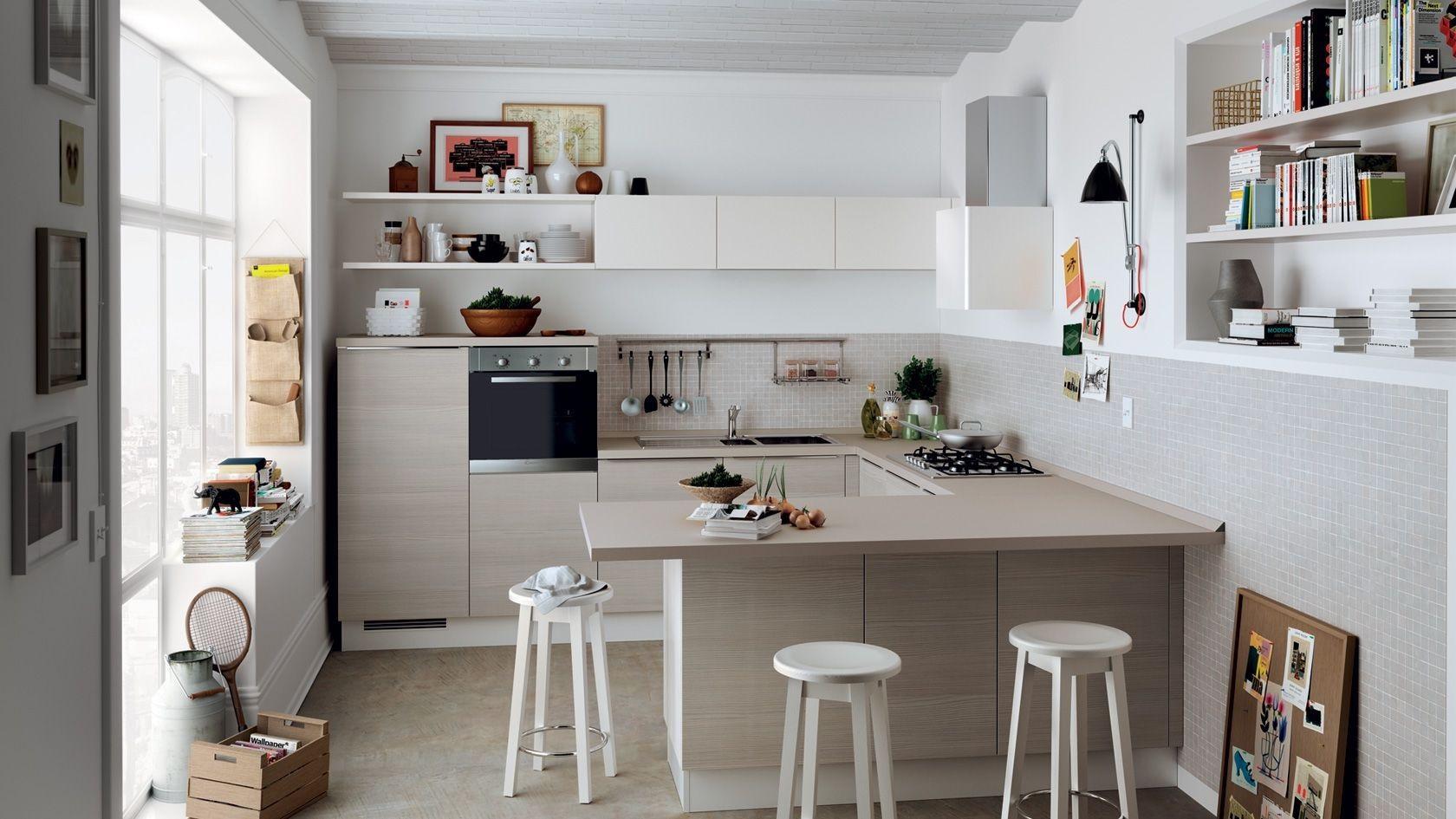 кухня в форме буквы G