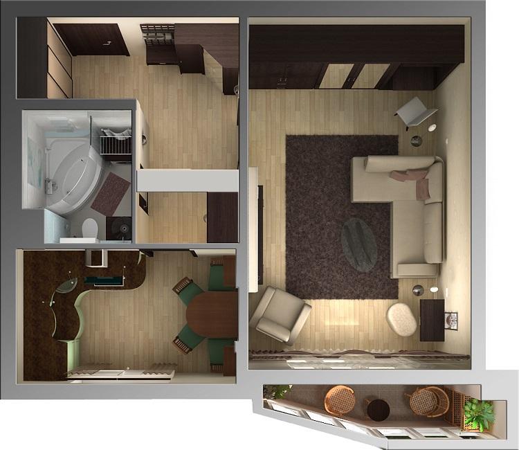 планировка малогабаритных квартир