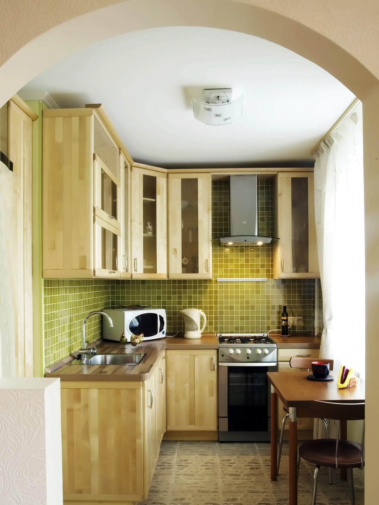 угловая планировку кухни