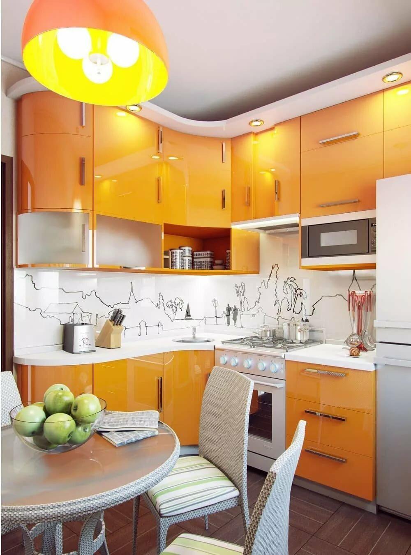 закругленная мебель на кухне