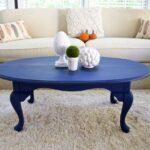 синий журнальный стол
