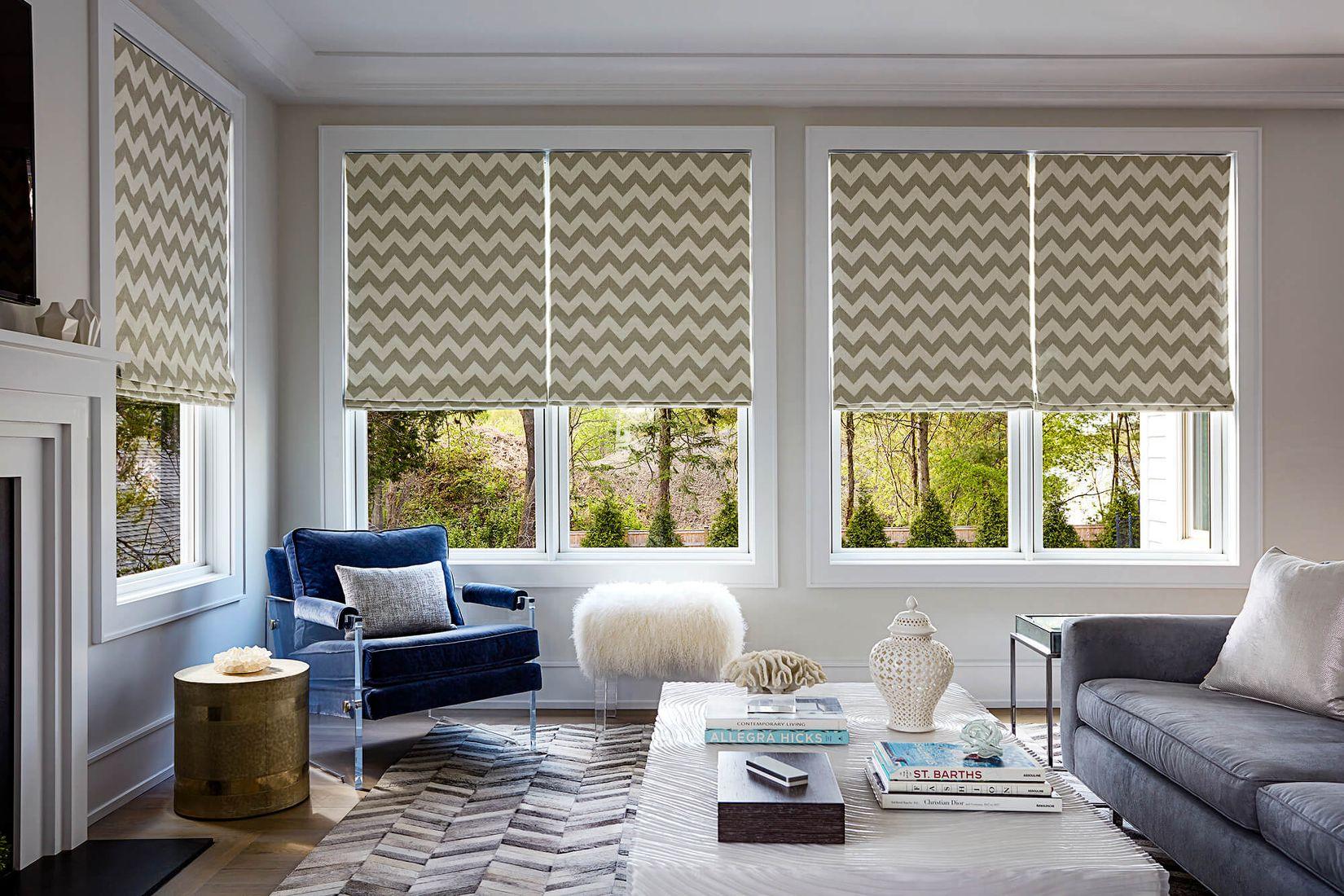 современные шторы на окнах в картинках фото