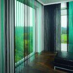 рулонные шторы зеленые веревочные