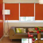 рулонные шторы темно-оранжевые
