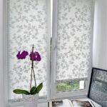 рулонные шторы с орхидеей