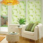 рулонные шторы зеленые